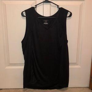 Black activewear tank top